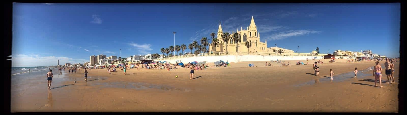 Playa de Regla en Chipiona, imágen panorámica