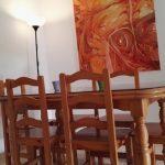 Salón - detalle de mesa comedor.