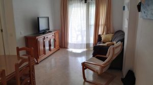 Salón comedor - Vista de sofá y TV de pantalla plana