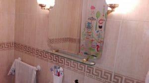 Detalle del cuarto de baño del dormitorio de matrimonio.